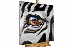Leinwandbilder Selbst Gemalt : bild zebra afrika als gem lde kaufen kunstloft ~ Orissabook.com Haus und Dekorationen