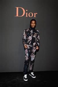 ASAP Rocky in Dior Homme : Photocall - Paris Fashion Week ...