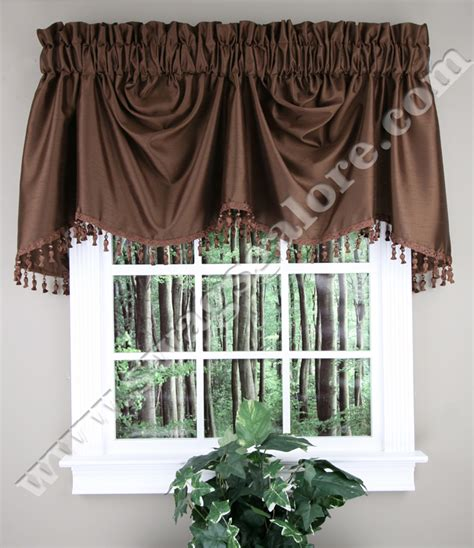 austrian valance chocolate united curtains