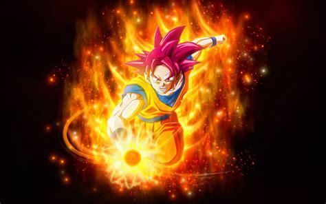 wallpaper super saiyan god dragon ball super  anime