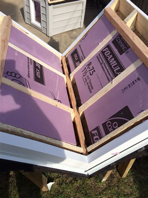 diy dog house roof with 1 1 2 quot foam insulation and a ridge vent diy dog house pinterest