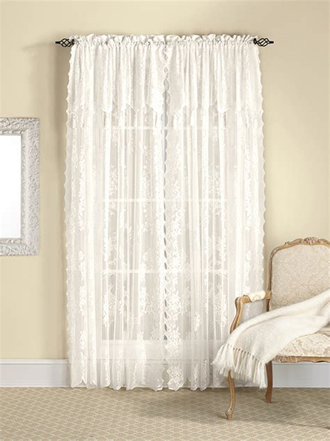 burgundy lace curtains with attached valance lace curtain panel with attached valance white