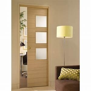 porte coulissante encastree elements mobiliers home With installer porte coulissante dans cloison