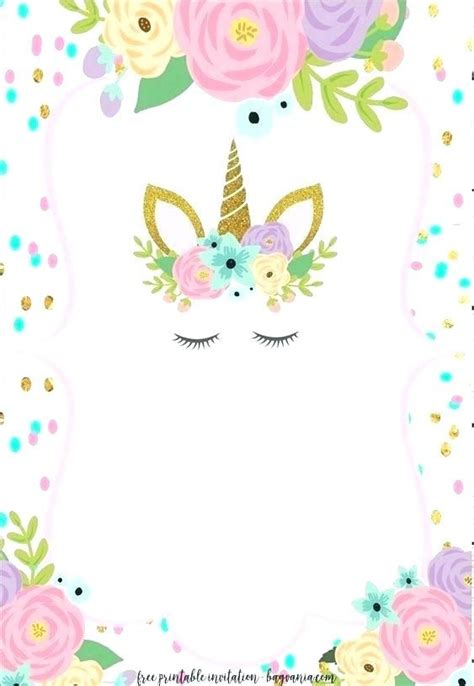 unicorn birthday invitations  printable birthday