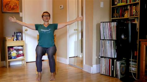 chair yoga for shoulders and hips youtube