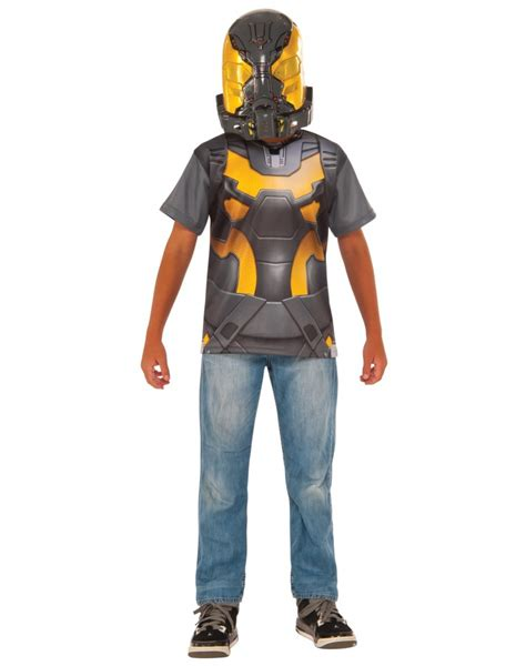 Yellow Jacket T Shirt And Mask Ant Man Costume