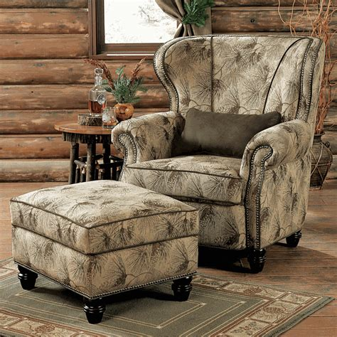 high back club chair with ottoman pinecone dusk chair ottoman