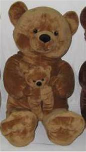 Grosse Peluche Pour Bébé : peluche ours grand modele 1 m maman avec b b marron clair ~ Teatrodelosmanantiales.com Idées de Décoration