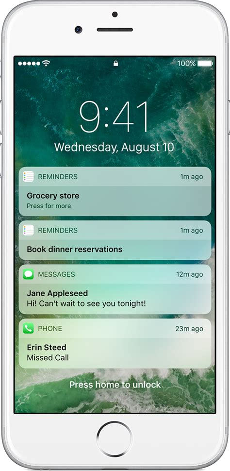 how to see notifications on iphone use notifications on your iphone and ipod touch