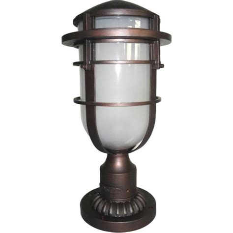 bronze nautical style garden gate post lantern in cast