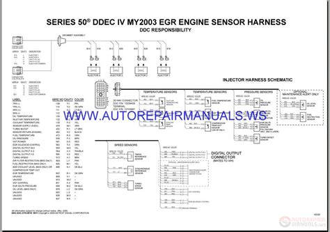 Detroit Diesel Series 50 Wiring Diagram by Detroit Diesel Epa Ddec Meb Series50 60 Wiring Diagrams
