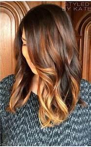 Brune Meche Caramel : balayage caramel sur base brune 13 hair frisuren haar ideen et einfache frisuren mittellang ~ Melissatoandfro.com Idées de Décoration