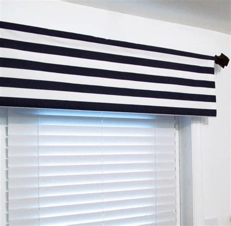 White And Blue Window Valances by Nautical Navy White Stripe Valance Navy Blue By Oldstation