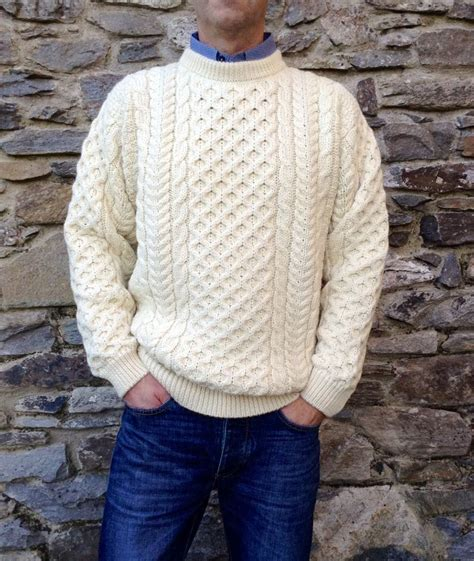 fisherman s sweater mens cable aran fisherman sweater 100