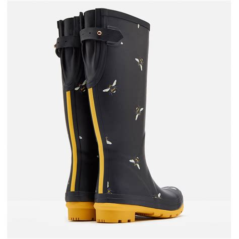 riding wellingtons joules horse ladies wellyprint stable waterproof tall field