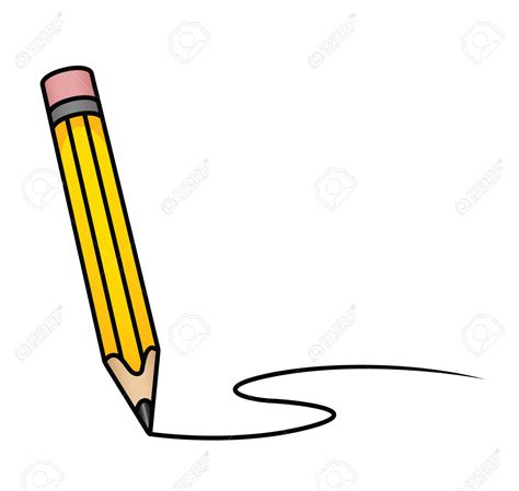 pencil clipart curved pencil   color pencil clipart
