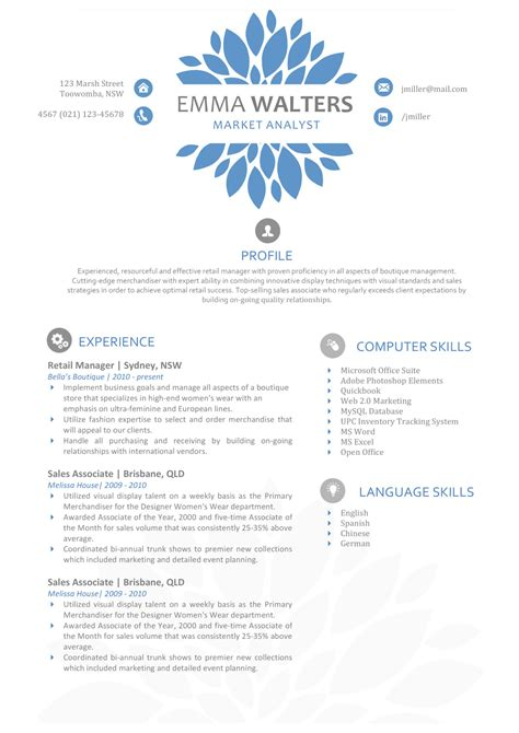 the resume creative resume template