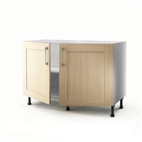 meuble cuisine sous evier 120 cm meuble de cuisine sous évier chêne clair 2 portes cyclone