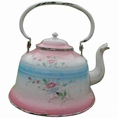 Tea Kettle Teapot French Agateware Antique Neatcurios