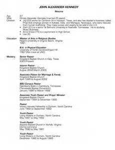 Pastor Resume Samples Examples