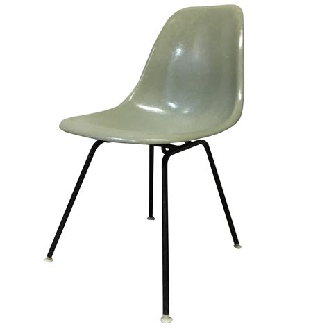 four herman miller eames seafoam green dining chairs for