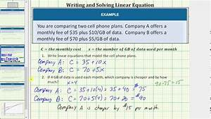 Write Linear Equations To Model And Compare Cell Phone
