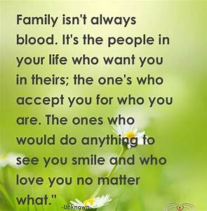Family Isnt Alw... Family Blood Quotes