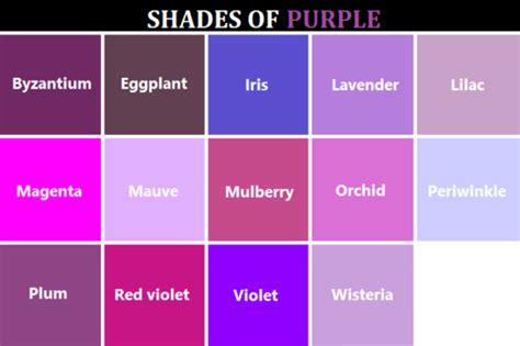 different color purples colors kutensky
