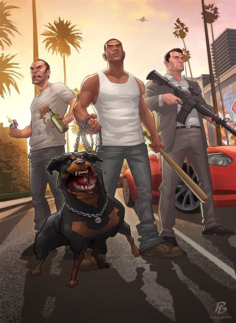 Grand Theft Auto 5 Fan Art Illustrations Wacky And Awesome