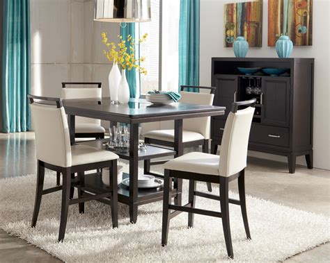 Trishelle Rectangular Counter Dining Room Set, D55032