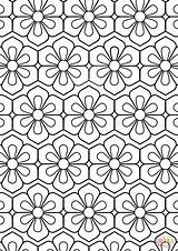 Coloring Pattern Flower Printable Adults Drawing Sheets Adult Floral Supercoloring Abstract Mandala Cool Paper Crafts Select Bible Cartoons Animals Nature sketch template