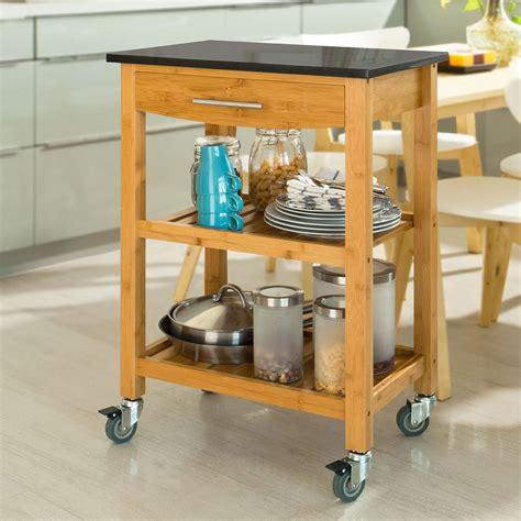 Küchenregal Mit Arbeitsplatte by Sobuy Servierwagen K 252 Chenwagen K 252 Chenregal Aus Bambus