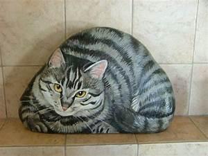 Steine Bemalen Katze : pin von renate krischanitz auf cats steine steine bemalen und malen ~ Watch28wear.com Haus und Dekorationen