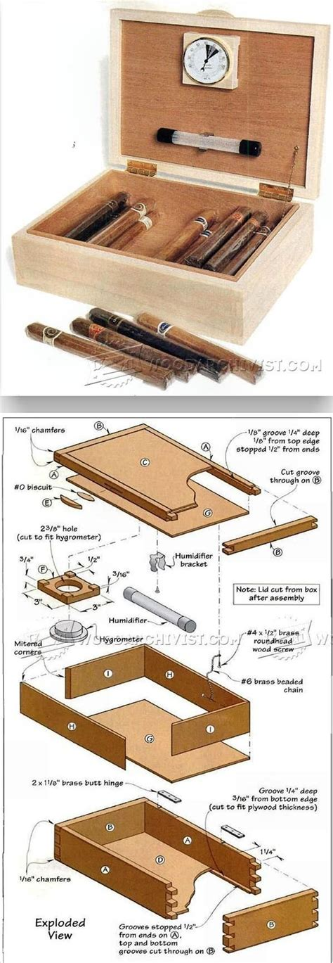 cigar humidor plans woodworking plans  projects