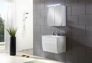 Badezimmermöbel Weiß Hochglanz : sam badezimmerm bel zagona 2tlg wei hochglanz 70 cm ~ Frokenaadalensverden.com Haus und Dekorationen