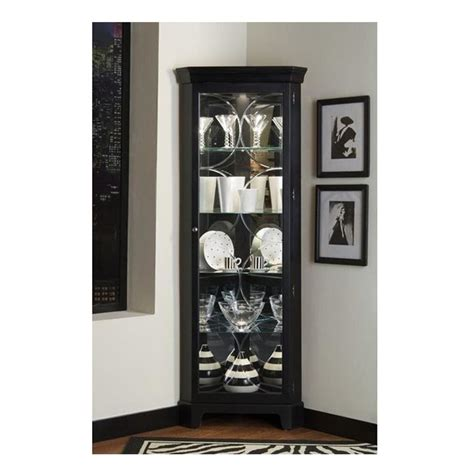 glass curio cabinet with lights black corner curio cabinet lighted china display case