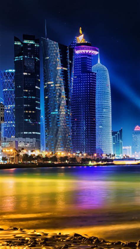 doha qatar skyline iphone  wallpaper hd