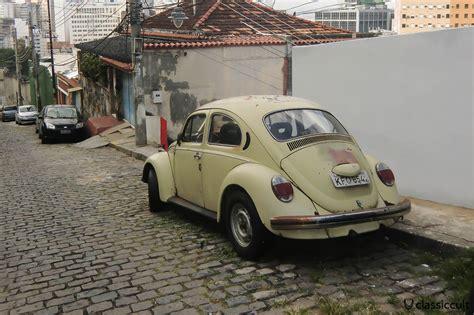 vw fusca beetle  rio de janeiro streets brazil classiccult