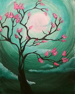 Cherry Blossom Painting by Annie Keen