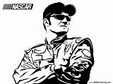 Nascar Coloring Driver Printable Adults sketch template
