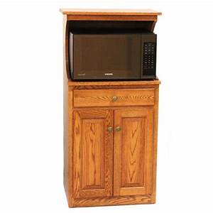 Microwave Stand with Hutch - Country Lane Furniture
