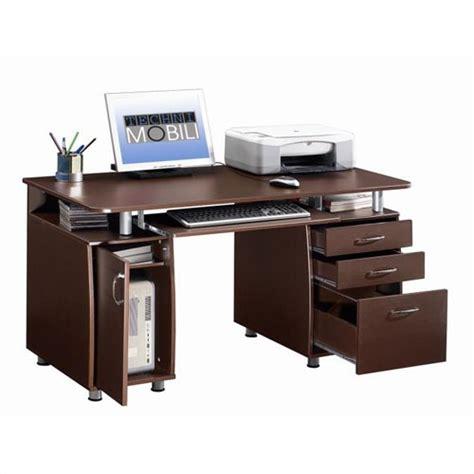 desk with lots of storage srorage techni mobili computer desk