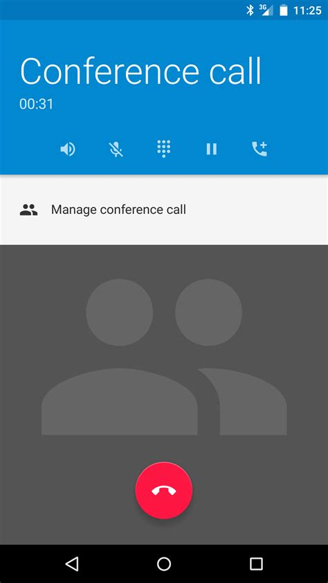 call my android how to get conference call management options back in