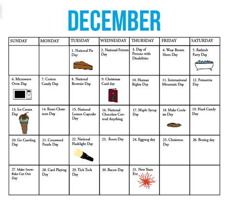 kirkwood call fun national holiday calendar december