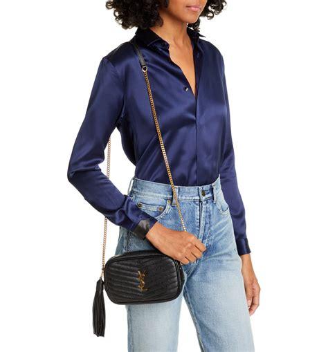 saint laurent mini lou quilted leather crossbody bag quilted leather leather crossbody bag