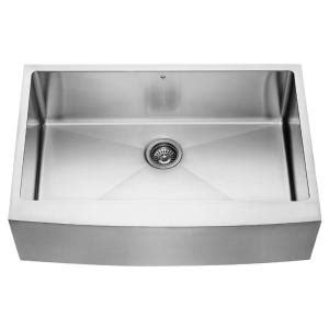 14 stainless steel kitchen sink vigo farmhouse apron front stainless steel 33 in single 8964