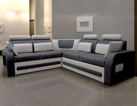 canapé d angle bicolore canap d 39 angle convertible tissu gris avec coffre aglibo 2