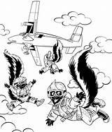 Coloring Template Fuller Rocky Skunks Skydiver Skydiving Pages Hidden Popular sketch template