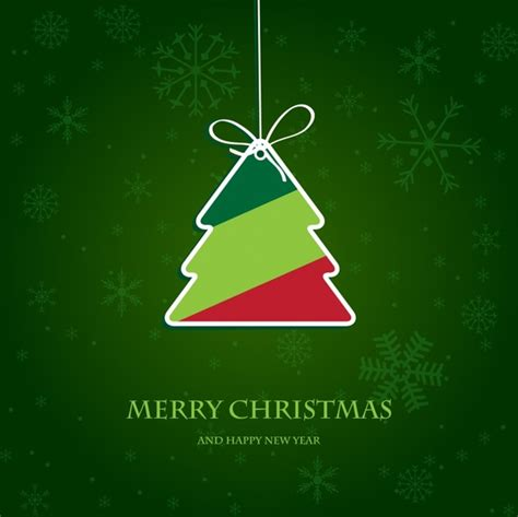 christmas tree tags vector christmas labels free vector in