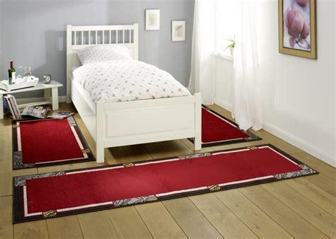 design bettumrandung alana kurzflor teppich rot grau teppich